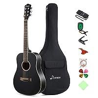 Donner アコースティックギター 3/4 ドレッドノート 右利き 初心者セット(36インチ) (ブラックDAG-1MB)