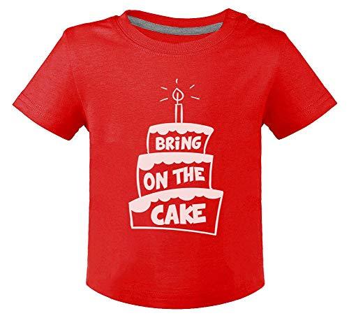 Anniversaire Bring on The Cake T-Shirt Bébé Unisex 18M Rouge