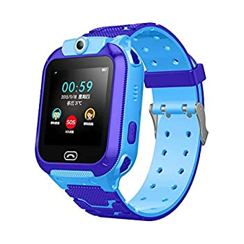 Smilvy Q12B Kids Smart Watch-1.44 inches Touch Screen-GPS Tracker,Remote Monitoring& Camera Support for Android/iOS