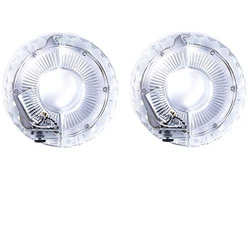 USB Fietswiel Verlichting LED Fiets Scooter Licht Oplaadbare Fiets Spaakverlichting 7 Kleuren Waterdicht Fietslicht Intelligent Twilight Inductie Spaaklamp voor Kinderen Volwassenen (2PCS)