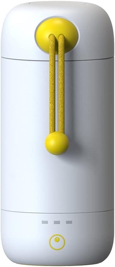 SBSNH Máquina de yogur para el hogar, pequeño dormitorio de oficina portátil de acero inoxidable, taza de yogur automática única (Color : White)