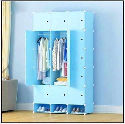 Haushaltsprodukte Tragbarer Kleiderschrank Aufbewahrungsschrank Kommoden für Schlafzimmer Tragbarer Kleiderschrank Kleiderschrank aus Vliesstoff mit Doppelstangenregalen Freistehender Kleiderschran