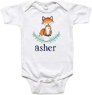 Personalized Baby Bodysuit Toddler Shirt - Baby Gift - Laurel Wreath Fox