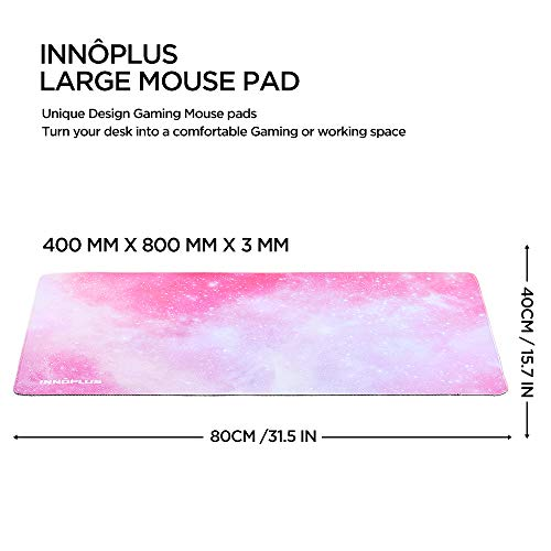 Gaming Mouse Pad, Large Mouse Pad XL Pink, Mouse Pads for Computers 31.5×15.75In, Large Extended Gaming Keyboard Mouse Pads, Big Desk Mouse Mat Designed for Gaming Surface/Office, Durable Edges Photo #4