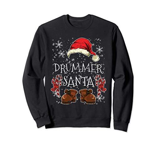 Schlagzeuger Partnerlook Outfit Weihnachtsmann Drummer Sweatshirt