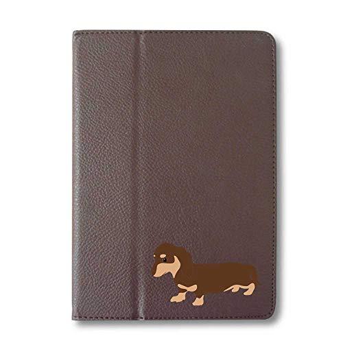 ダックスフンド チョコ&タン タブレットケース iPad 手帳型 iPad Pro 9.7 ブラウン 犬 柴犬 黒柴 日本犬 ペット 動物 アニマル タブレットカバー タブレット ブック型 iPadPro9.7 アイパッド 茶 Fave フェイブ f020
