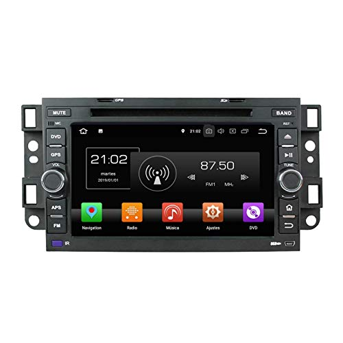 Android 8.0 Autoradio Coche para Chevrolet Aveo/Epica/Lova/Spark/Optra/Captiva, 4 GB RAM 32 GB ROM, 7 Pulgadas Pantalla Táctil Reproductor de DVD Radio Bluetooth Navegación GPS