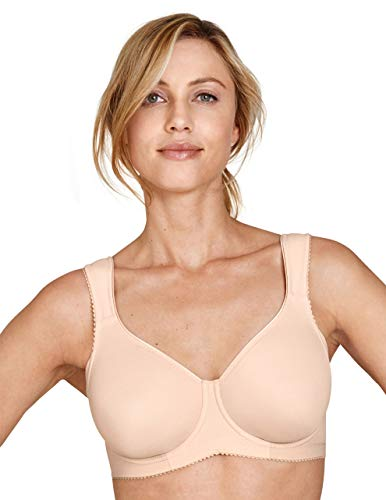 Miss Mary Of Sweden Stay Fresh Underwired Unpadded T-Shirt Bra with Wide Back Beige