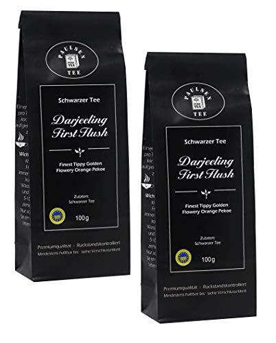 Darjeeling First Flush 2 x 100g (49,75 Euro / kg) Paulsen Tee Schwarzer Tee rückstandskontrolliert & zertifiziert