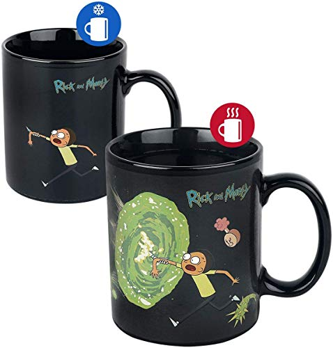Cartoon Network SCMG24959 Rick and Morty (Portals) Heat Changing Mug, multicolor