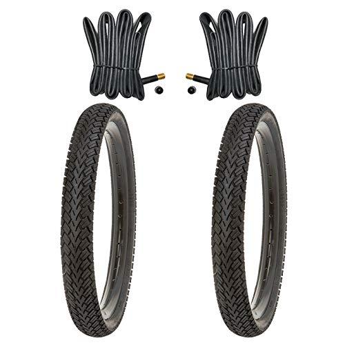 Kujo 2X Fahrradreifen 12 Zoll Reifen 12.5 x 2.25 62-203 inkl. 2 x Schlauch mit Autoventilen