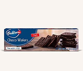 Choco Wafers Dark Chocolate Cookies (2 boxes) by Bahlsen- Wafers covered with European Chocolate - 4.6 oz boxes