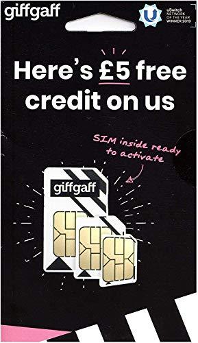 GIFFGAFF GPS SIM Card Standard Nano Micro 2G 3G 4G Compatible with...
