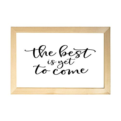 rfy9u7 8x12inch Wooden Framed Sign with Funny Quote Farmhouse Wall Decor Art for Home, Kitchen, Bathroom - The Best is Yet to Come
