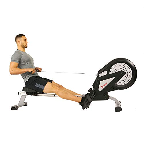 Sunny Health & Fitness SF-RW5623 Air Rowing Machine Rower w/ LCD Monitor