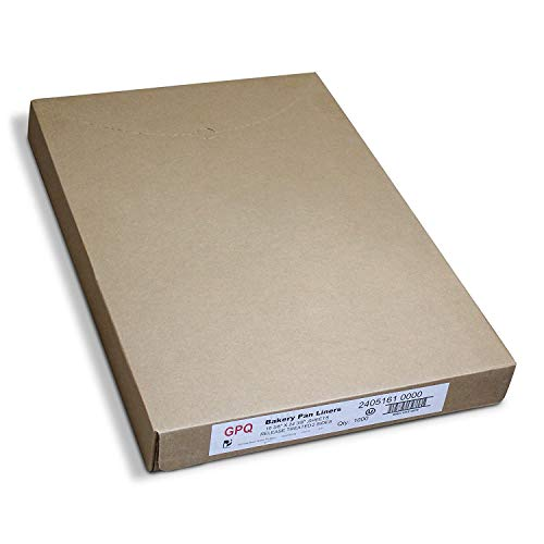 Paterson Paper 16' x 24' Full Size White Quilon Coated Reusable Baking Parchment Paper Sheets Bun/Sheet Pan Liners - 1000/Case - 425F - Non-Stick/Grease-Proof