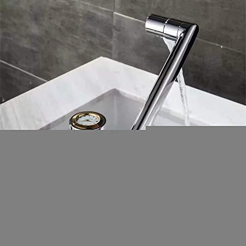 LIPENLI Chapado en cobre de plata tocador de baño grifo creativo Dial de Oro Home Hotel caliente y fría de ajuste giratorio grifo hermoso práctica