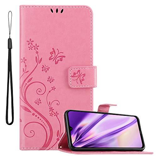 Cadorabo Custodia Libro per Xiaomi Redmi Note 8 in Rosa Fiore – in Design di Fiore con Chiusura Magnetica, Funzione Stand e 3 Vani di Carte - Portafoglio Cover Case Wallet Book Etui Protezione
