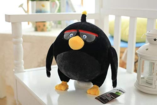 Wjfijz Juguetes de Peluche de Angry Birds, Juguetes de Peluche Bonitos, Regalos de cumpleaños para niños, Bomba de 30 cm