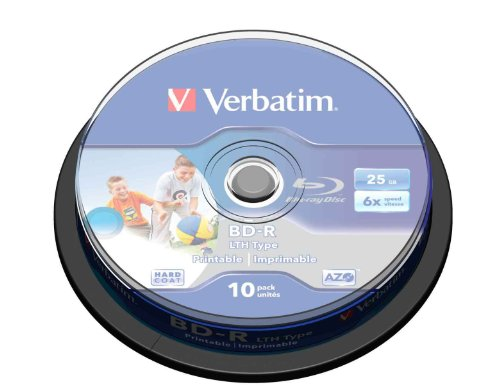 Verbatim BD-R LTH Blu-ray Rohlinge (6X Speed, 25GB, 10er Spindel)