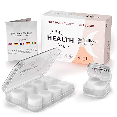 The Health Hug tapones oídos silicona blanca suave