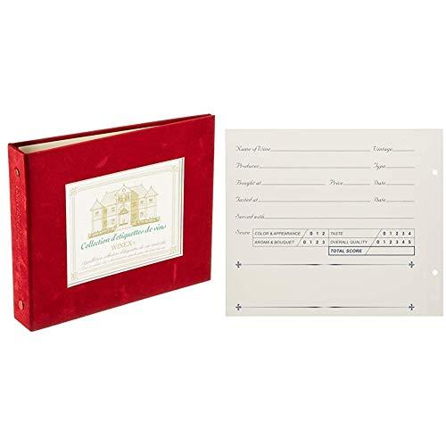 WINEX ラベルメモリーバインダー バーガンディー ZW900RE & ワインラベルレコーダー (12枚入) ZW500NS【セット買い】