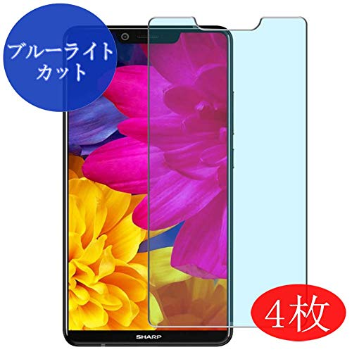 【4 Pack】 Synvy Anti Blue Light Screen Protector for Sharp Aquos S3 FS8032 2018 D10 Blue Light Blocking Screen Film Protective Protectors [Not Tempered Glass] New Version