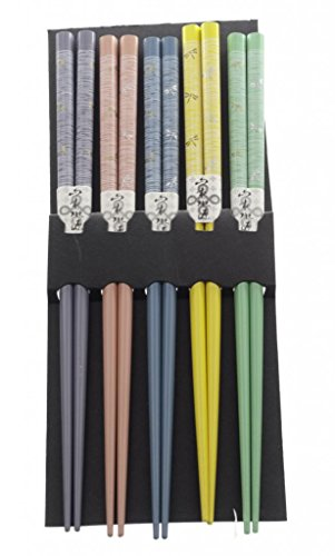 M.V. Trading 900306 Japanese Chopsticks Gift Set With Many Variety Designs, 5 Pairs