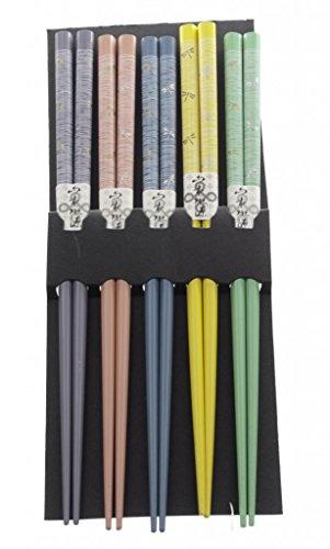 M.V. Trading 900306 Japanese Chopsticks Gift Set With Many Variety Designs, 5 Pairs