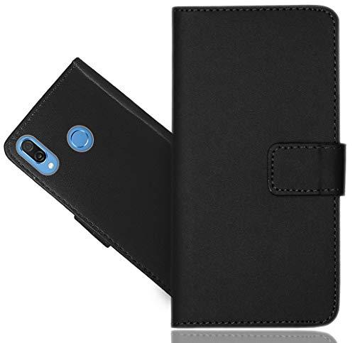 Huawei Honor Play Handy Tasche, FoneExpert® Schwarz Wallet Hülle Flip Cover Hüllen Etui Hülle Ledertasche Lederhülle Schutzhülle Für Huawei Honor Play