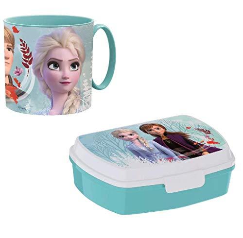 Frozen Anna en Elsa papa school, papa zee mok en broodtrommel voor school, beker en snackbox, herbruikbaar, kunststof…