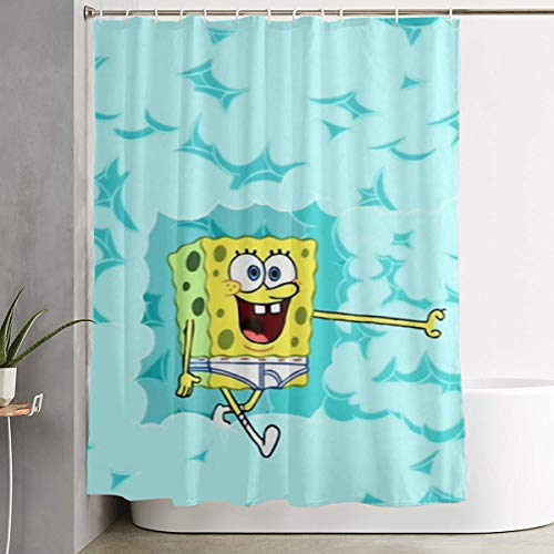 MOANDJI Funny Fabric Shower Curtain Calm Spongebob...
