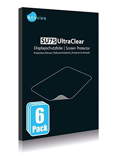 "savvies Protector Pantalla Compatible con Holalei Fitness Tracker 1.3"" (6 Unidades) Pelicula Ultra Transparente 4"