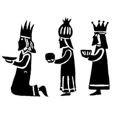 Sello de caucho Three Kings de 1pulgada.–1671