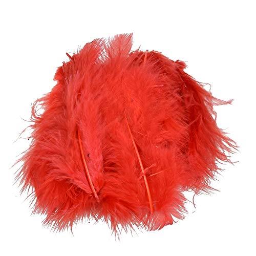 efco- Pluma Marabou 100-120 mm 2 g ~ 22 uds, Color Rojo, 12 x 5 x 2 cm (1004328)