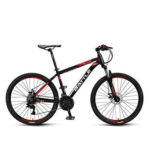 Mountain Bike 27-Speed Off-Road with Dual Disc Brakes, Non-Slip Full Suspension Gear Bike for Adults and Teenagers GH