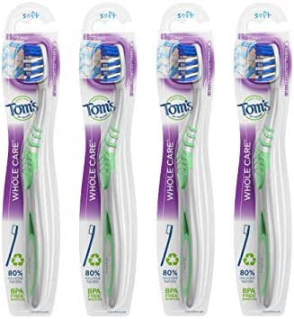 Tom s of Maine Whole Care Toothbrush Soft 4 Pack product image