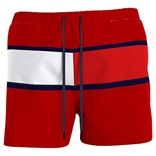 Tommy Hilfiger Herren MEDIUM Drawstring Badehose, Primary Red, XXL
