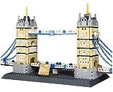 WANGE Tower Bridge de Londres. Modelo de Arquitectura para armar con Bloques de construcción