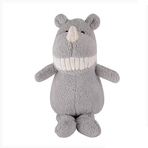 Schattige grote tand dier knuffel kinderspel pop vakantie speelgoed 28cm grijze neushoorn
