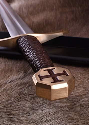 Templer-Schwert mit Scheide Kreuzfahrerschwert Ritter Mittelalter - 5