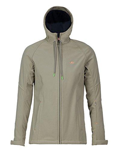 Jeff Green Damen Winddichte Wasserabweisende Atmungsaktive Softshell Jacke Kapuze New Jade, Größe - Damen:38, Farbe:Leaf