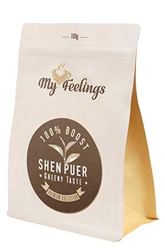My Feelings Unfermentierter chinesischer Pu'er Tee - Grünteegeschmack, 100g