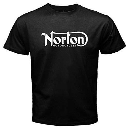New Norton Motorcycle Classic Logo Racing Men's White Black T-Shirt Size S-3XL