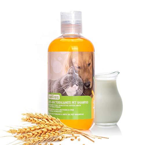Nobleza Hundeshampoo gegen Juckreiz Milben Pilz, Sensitive-Shampoo Katze, Anti-Bakteriell, Lindert Hautreizungen, auch für Welpen und Kätzchen 250ml