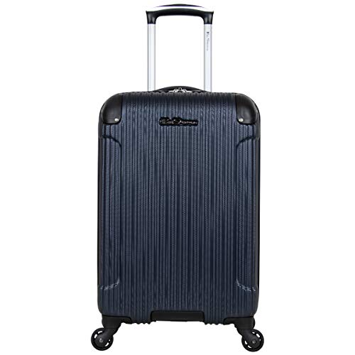 Ben Sherman Charlton Bay Collection Lightweight Hardside 4-Wheel Spinner Travel Luggage, Navy, 20-Inch Carry On