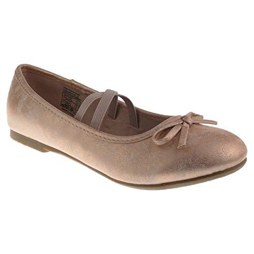 Indigo 422 319 Mädchen Sommer Ballerina Riemchen Schleife Rosegold Gr.31-39 EUR 36