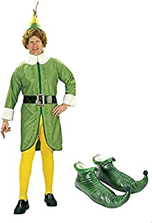 Buddy The Elf Costume Kit with Green Elf Shoes Adult
