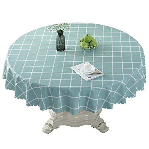 NgFTG Rond PVC tafelkleed, vinyl tafelkleed wasdoek oliebewijs waterdicht tafelkleed tafelkleed bureau onderlegger tabletop decoratie