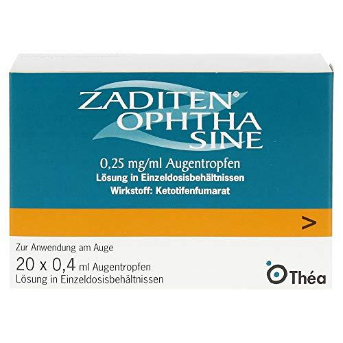 ZADITEN Ophtha sine Lösung bei allergischer Konjunktivitis, 20 St. Einzeldosispipetten